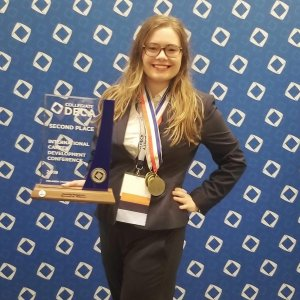 MaryJo Tullo, CIMMO's CEM Wins 2nd Place Finalist at DECA's International Career Development Conference